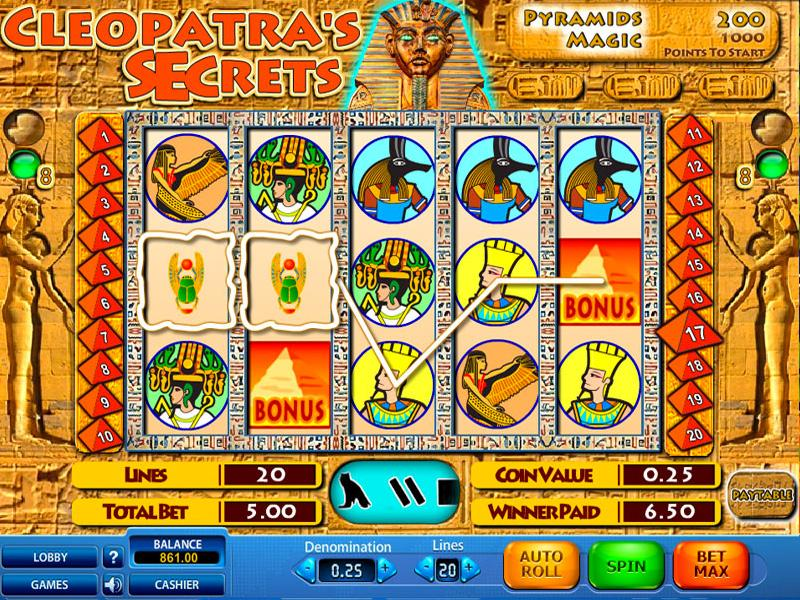 cleopatras-secrets-slots-game-screenshot-nrv