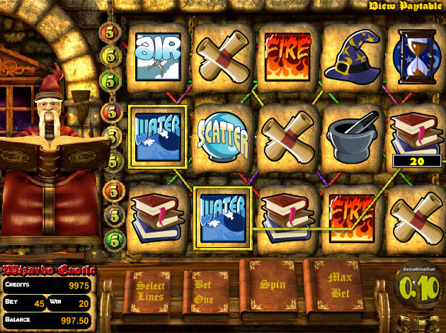 wizards-castle-slots-game-screenshot-uet